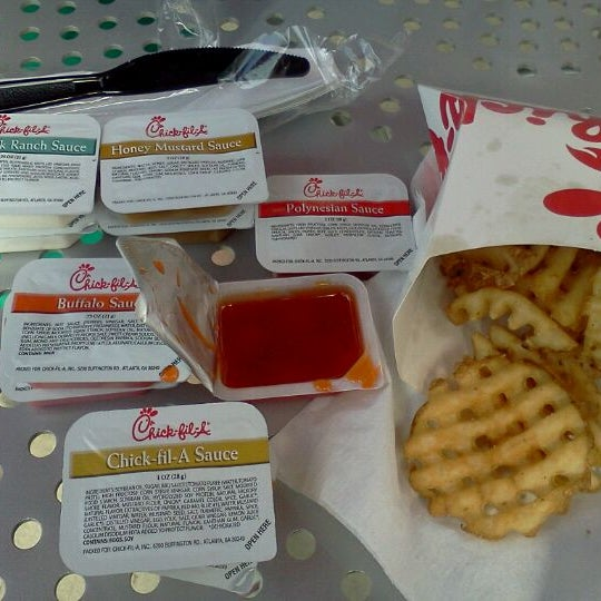 Photo taken at Chick-fil-A by Caitlynne B. on 4/21/2012