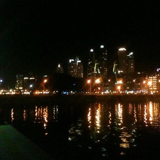 Photo taken at Puerto Madero by anais r. on 7/30/2012