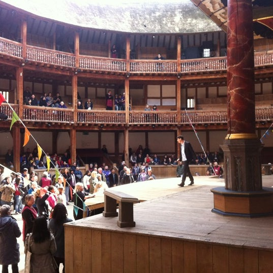 Photo taken at Shakespeare's Globe Theatre by András N. on 4/22/2012