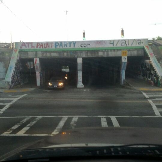 Photo taken at Krog Street Tunnel by Olly M. on 4/5/2012