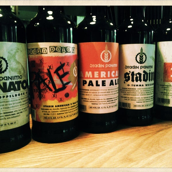 Best selection of Stadin Panimo...a great local brewer!