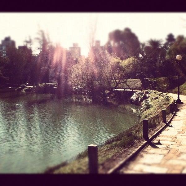 Photo taken at Parque José Enrique Rodó by Vanessa F. on 7/8/2012
