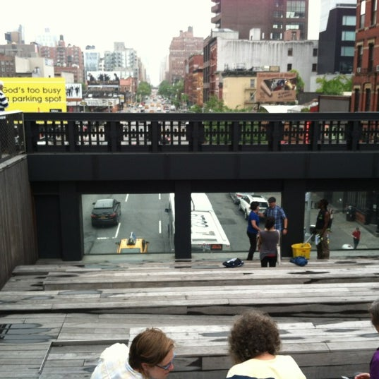 Photo taken at High Line 10th Ave Amphitheatre by Steve N. on 5/25/2012