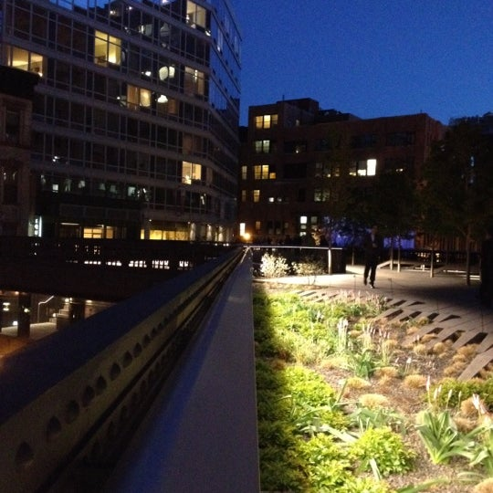 Photo taken at High Line 10th Ave Amphitheatre by Corey S. on 4/5/2012
