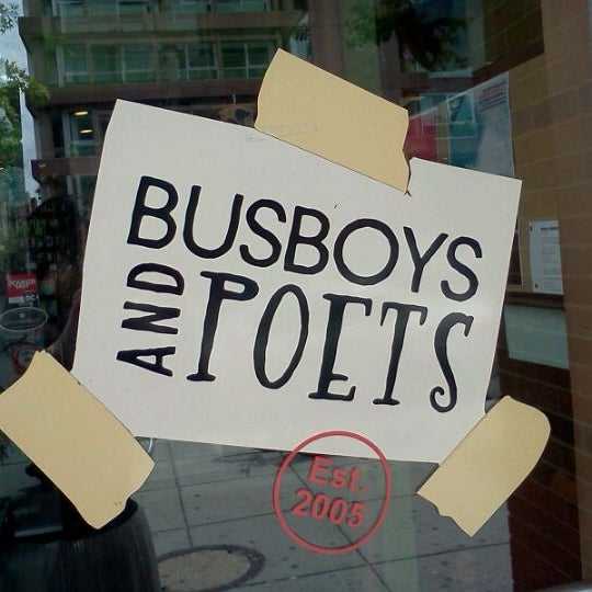 Photo taken at Busboys and Poets by Pheebs on 4/28/2012