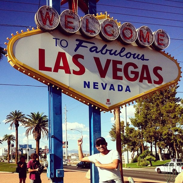 Photo taken at Welcome To Fabulous Las Vegas Sign by Tony M. on 8/27/2012