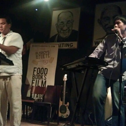 Photo taken at Busboys and Poets by Christian O. on 7/13/2012