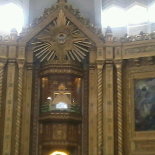 Photo taken at National Shrine of Our Lady of Peace and Good Voyage (Antipolo Cathedral) by Melanie A. on 6/23/2012