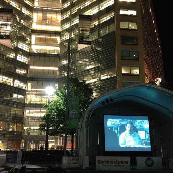 Photo taken at Campus Martius by Mike F. on 8/18/2012