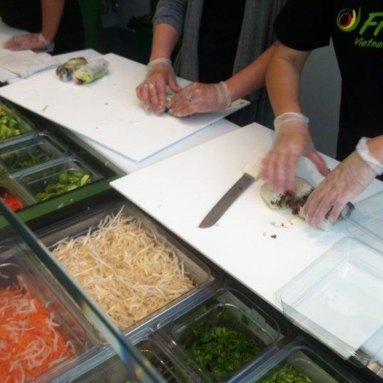 Photo taken at Freshroll Vietnamese Rolls & Bowls by Olivia T. on 6/2/2012