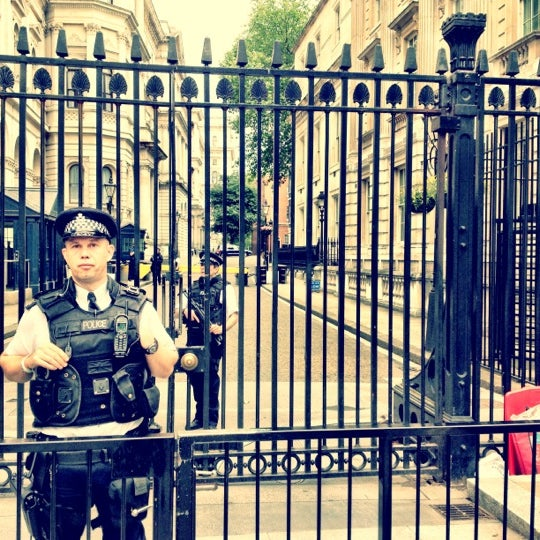 Photo taken at 10 Downing Street by Tania B. on 7/9/2012