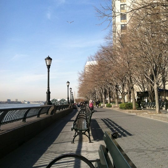 Photo taken at Battery Park City Esplanade by MarMar D. on 3/12/2012