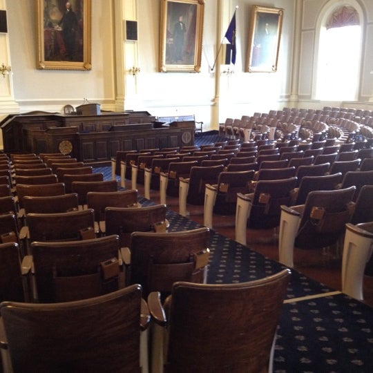 Photo taken at New Hampshire State House by James L. on 4/19/2012