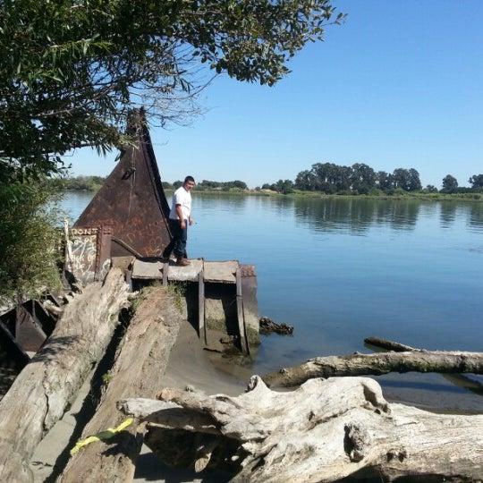 Photo taken at Rio Vista Bridge by Steven D. on 8/9/2012