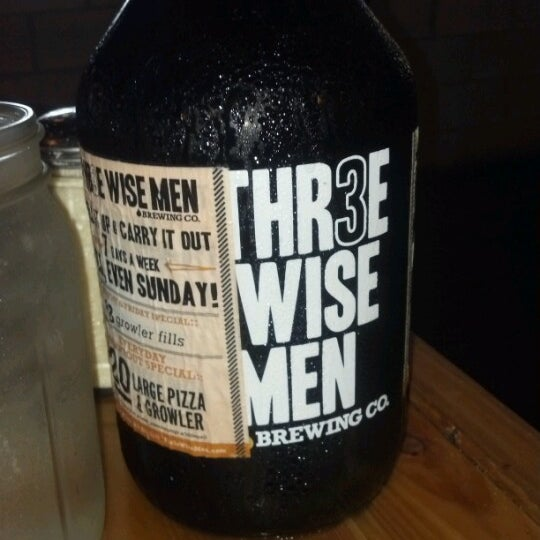 Photo taken at Thr3e Wise Men Brewing Co. by Colleen M. on 9/3/2012