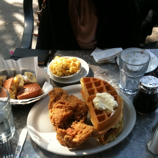 Photo taken at Sylvia's Restaurant by Gloria L. on 4/21/2012