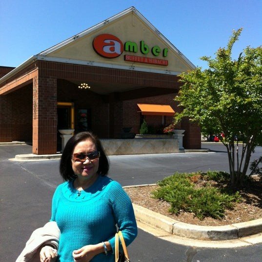 Photo taken at Amber Buffet & Hibachi by Ellen L. on 4/12/2012