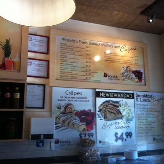 Photo taken at Wanda's Belgian Waffles by Anjel C. on 7/4/2012