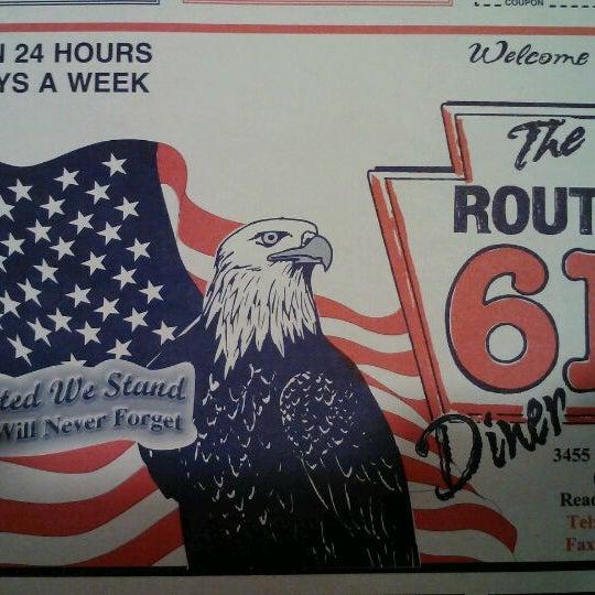 Foto tirada no(a) Route 61 Diner por Teme T. em 2/17/2012