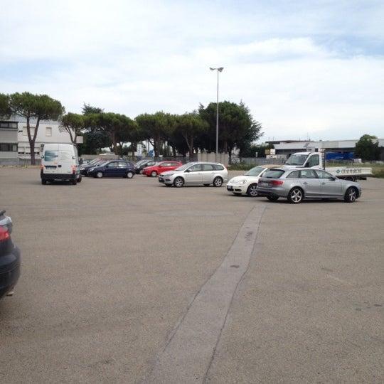 Photo taken at Parcheggio Via Sassonia by Namer M. on 6/8/2012