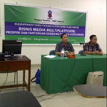 Photo taken at Institut Ilmu Sosial dan Ilmu Politik (IISIP) by Djony H. on 6/16/2012