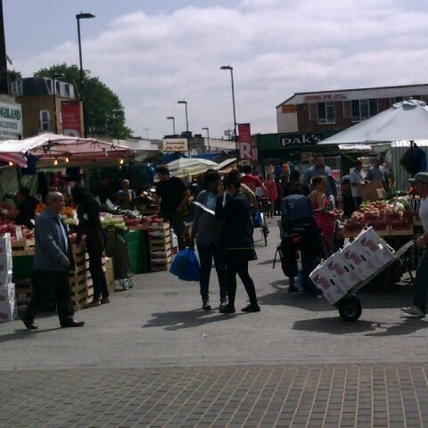 Photo taken at Ridley Road Market by Ed M. on 6/27/2012