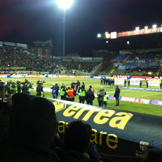 Photo taken at Stadio Ennio Tardini by Gianfranco Clerici on 2/15/2012