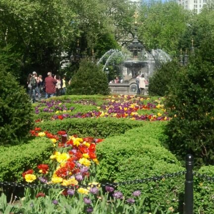 Photo taken at City Hall Park by Sandra R. on 4/21/2012
