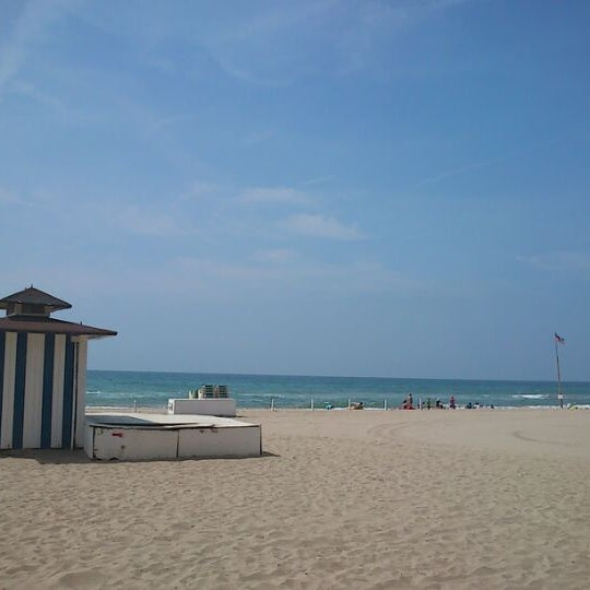 Photo taken at Platja de Calafell by xavi V. on 6/6/2012