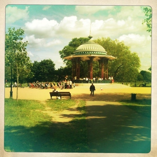 Photo taken at Clapham Common by Alex on 6/17/2012