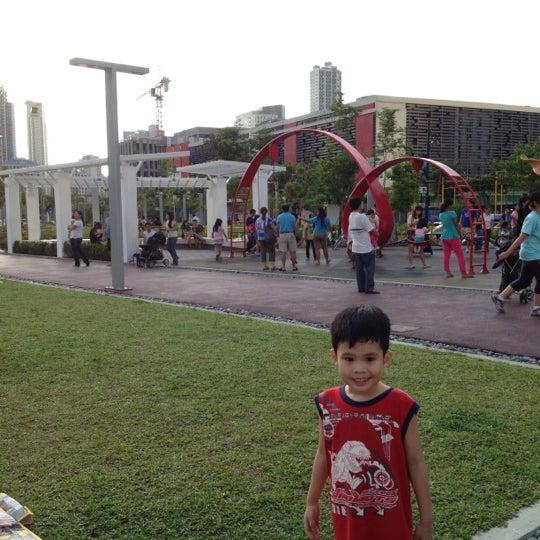 Photo taken at Bonifacio High Playground by Keith M. on 5/26/2012