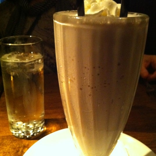 Get a milkshake to go with your burger. They make their ice cream in-house!