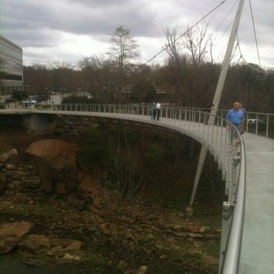 Photo taken at Liberty Bridge by Thom K. on 3/12/2012