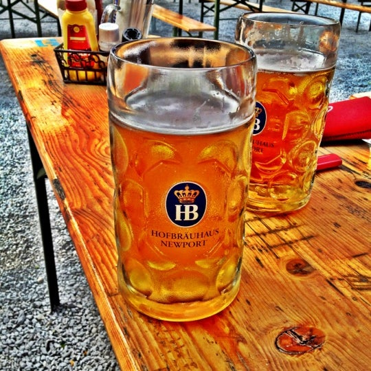 Photo taken at Hofbräuhaus Newport by Heath N. on 5/25/2012