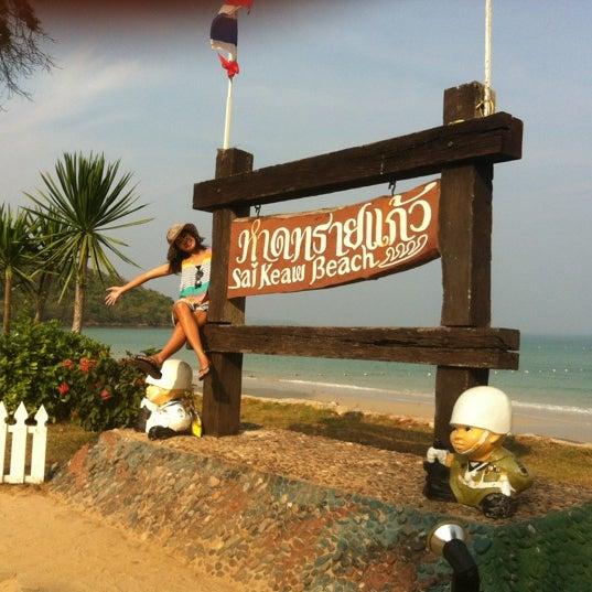Photo taken at Sai Keaw Beach by Thanaporn P. on 4/3/2012