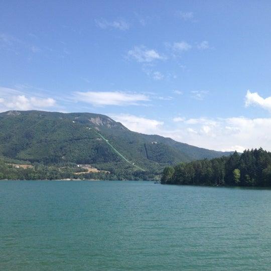 Photo taken at Lago di Suviana by Cinzia F. on 7/25/2012