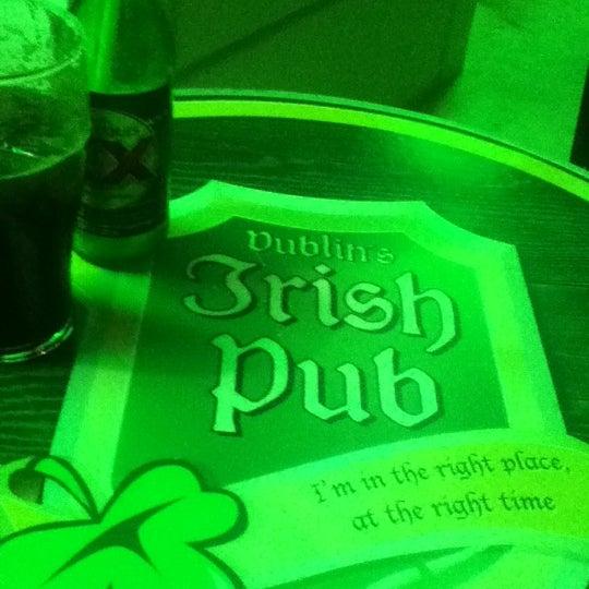 Photo taken at Dublin's Irish Pub by Luis Manuel D. on 9/7/2012