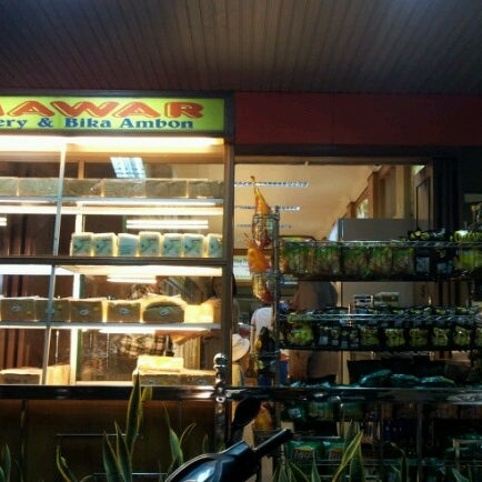 Photo taken at Mawar Bakery and Cake Shop by Cak W. on 7/8/2012