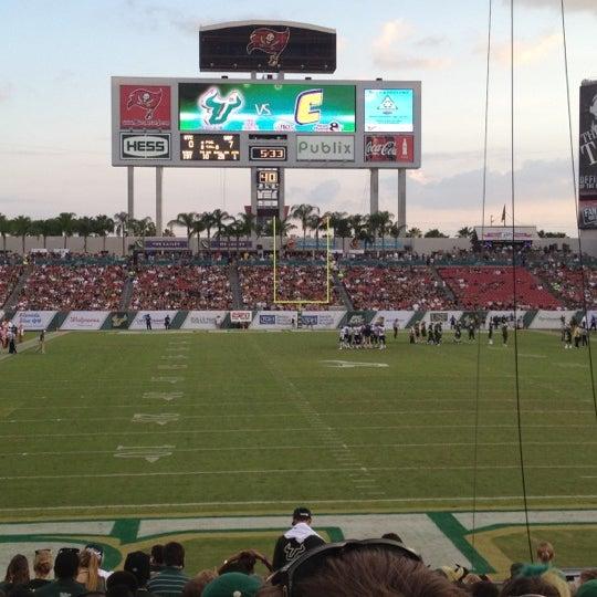 Photo taken at Raymond James Stadium by Alex on 9/1/2012