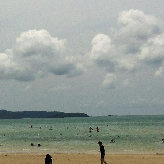 Photo taken at Sai Keaw Beach by Nuengruthai C. on 3/10/2012