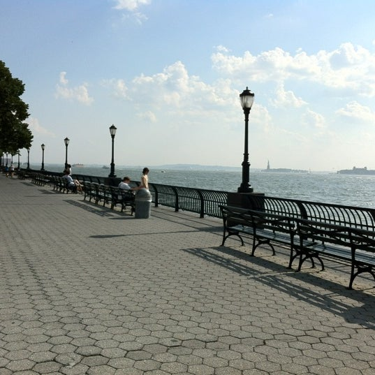 Photo taken at Battery Park City Esplanade by Saulo on 8/2/2012