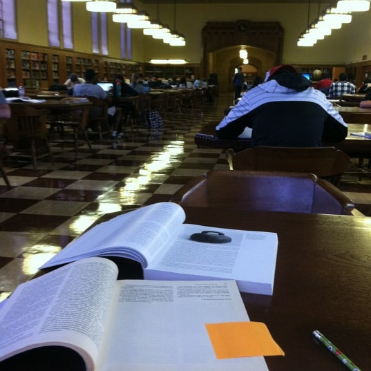 Photo taken at Doheny Memorial Library (DML) by Ashley M. on 4/24/2012
