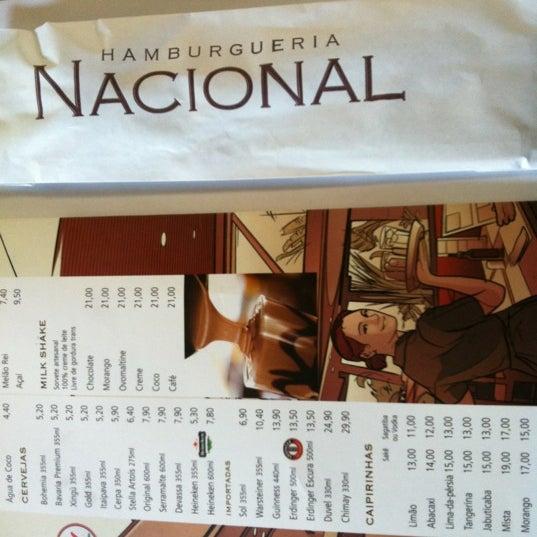 Photo taken at Hamburgueria Nacional by Paula P. on 6/3/2012