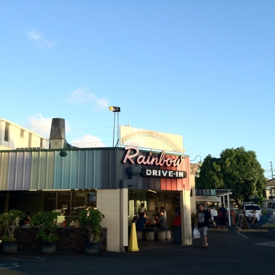 Photo taken at Rainbow Drive-in by Natalie B. on 9/1/2012
