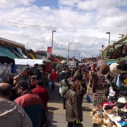 Photo taken at Ridley Road Market by Alexandre F. on 4/21/2012