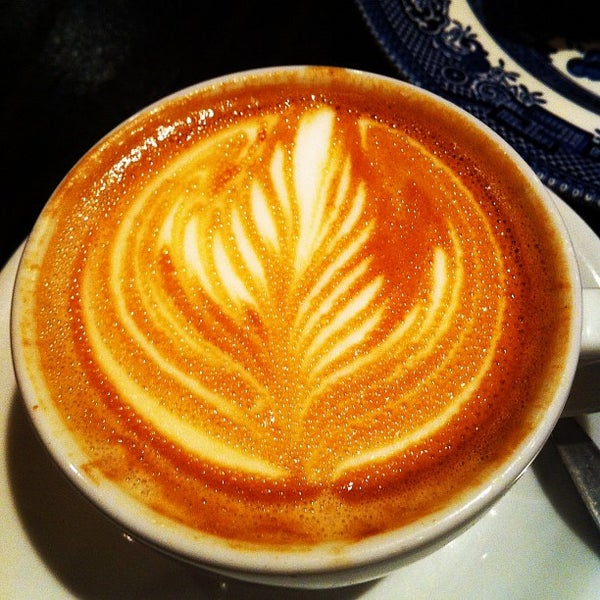 Photo taken at Flat White by Stijn O. on 7/9/2012