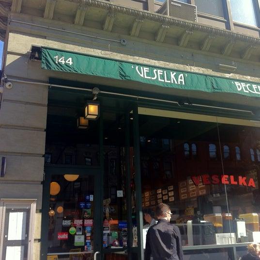 Photo taken at Veselka by Denise G. on 4/3/2012