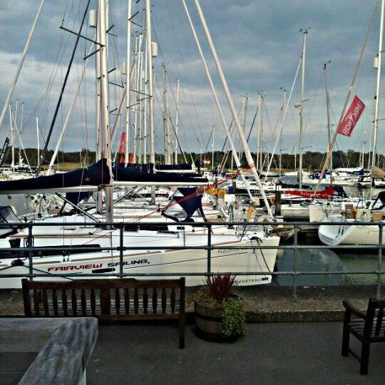 Photo taken at Hamble Point Marina by Stuart B. on 4/14/2012