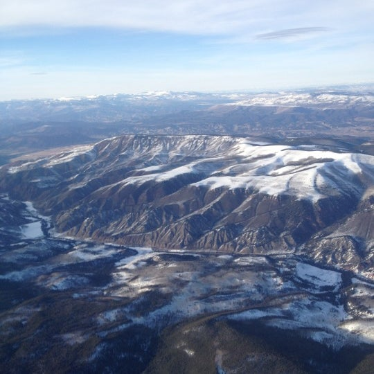 Photo taken at Aspen/Pitkin County Airport (ASE) by Lauren S. on 2/18/2012