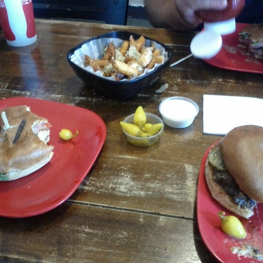 Photo taken at G Burger by Katie B. on 9/8/2012